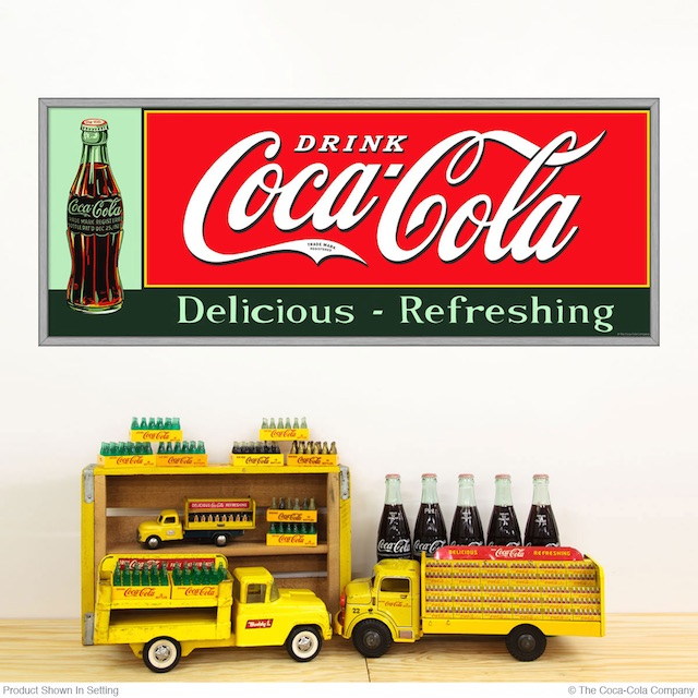Retro Coke Ad Decal